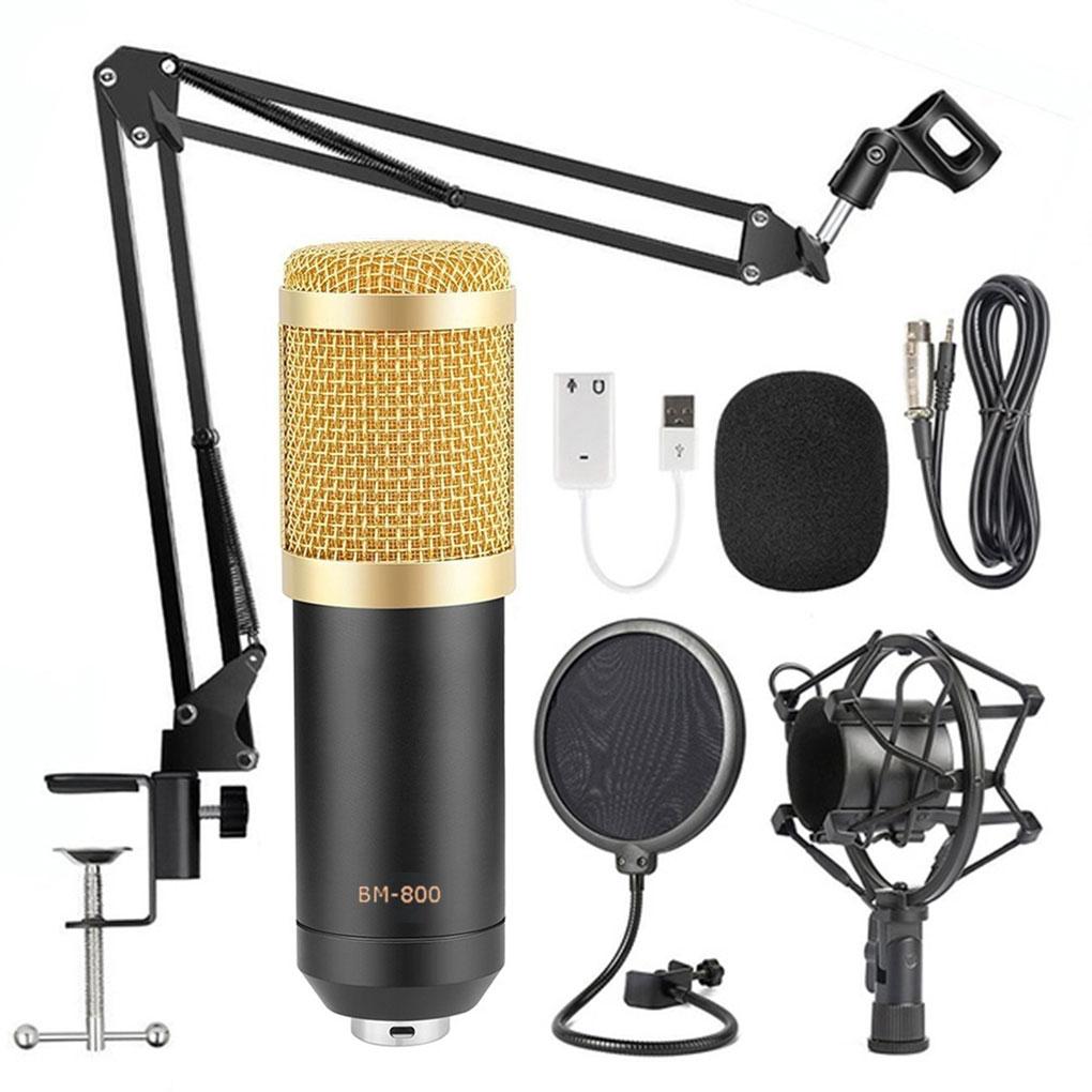 BM800-طقم ميكروفون بمكثف ، ذراع مقص ، تعليق استوديو ، تسجيل استوديو ، ميكروفون بث
