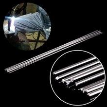 10 قطعة الفضة الألومنيوم قضيب لحام درجة حرارة منخفضة المعادن لحام أسياخ لحام سمكرة صلدة 1.6 مللي متر x 45 سنتيمتر مع مقاومة التآكل