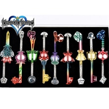 Novo anime jogo Kingdom Hearts sora riku kairi chave lâmina modelo acessórios de cosplay