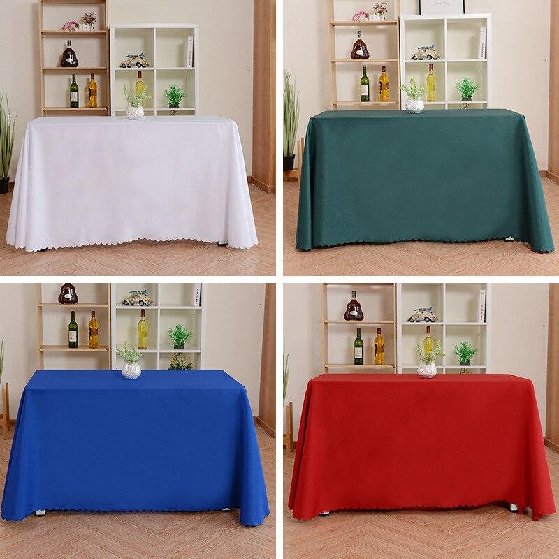 Toalha de mesa retangular do banquete toalha de mesa do hotel da cor pura toalha de mesa lisa