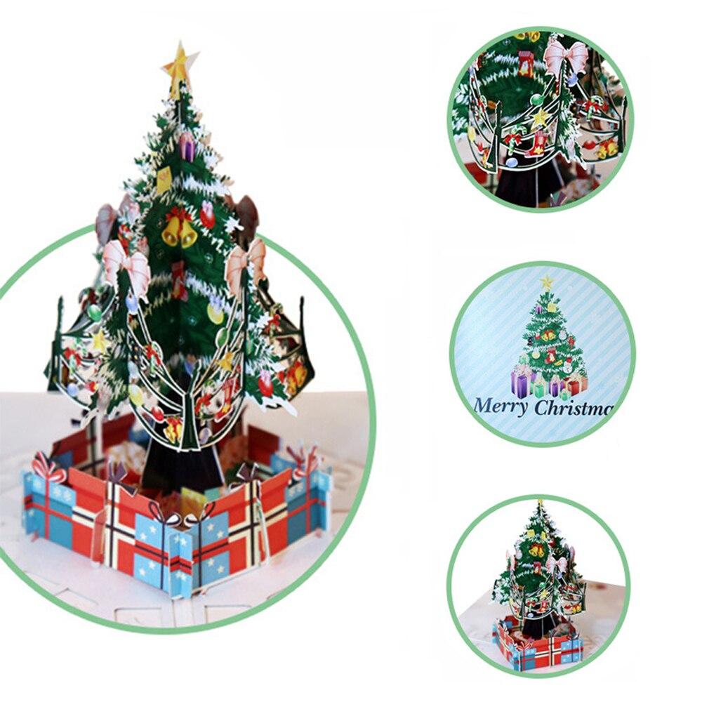 Carte de vœux du nouvel an   Carte postale 3D Pop-Up joyeux noël, carte Pop Up de vacances pour enfants, cadeau darbre, cadeau de noël 2020