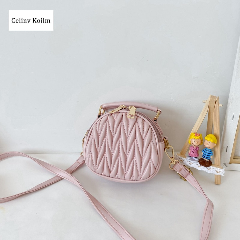 Celinv Koilm Cute, Fresh, Simple And Generous New Children's Fashion Shoulder Bag Girl Foreign Princess Style Portable Diagonal