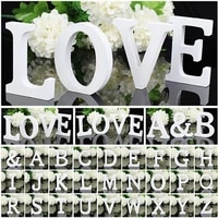 white wood letter alphabet diy personalised name design art crafts free standing xmas birthday wedding party home decoration