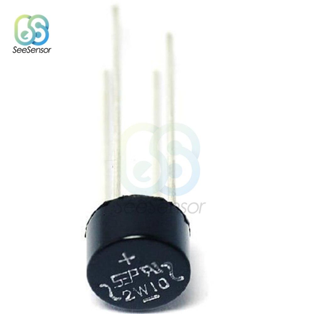 20 unids/lote 2W10 2A 1000V diodo puente rectificador potencia rectificador diodo componentes electrónicos