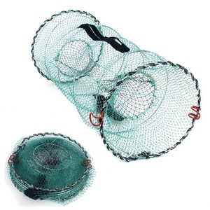 Folding Fish Trap   Fishing Net   Collapsible Cast Mesh Landing Bait Net For Crab Shrimp Minnow Crawfish Catfish