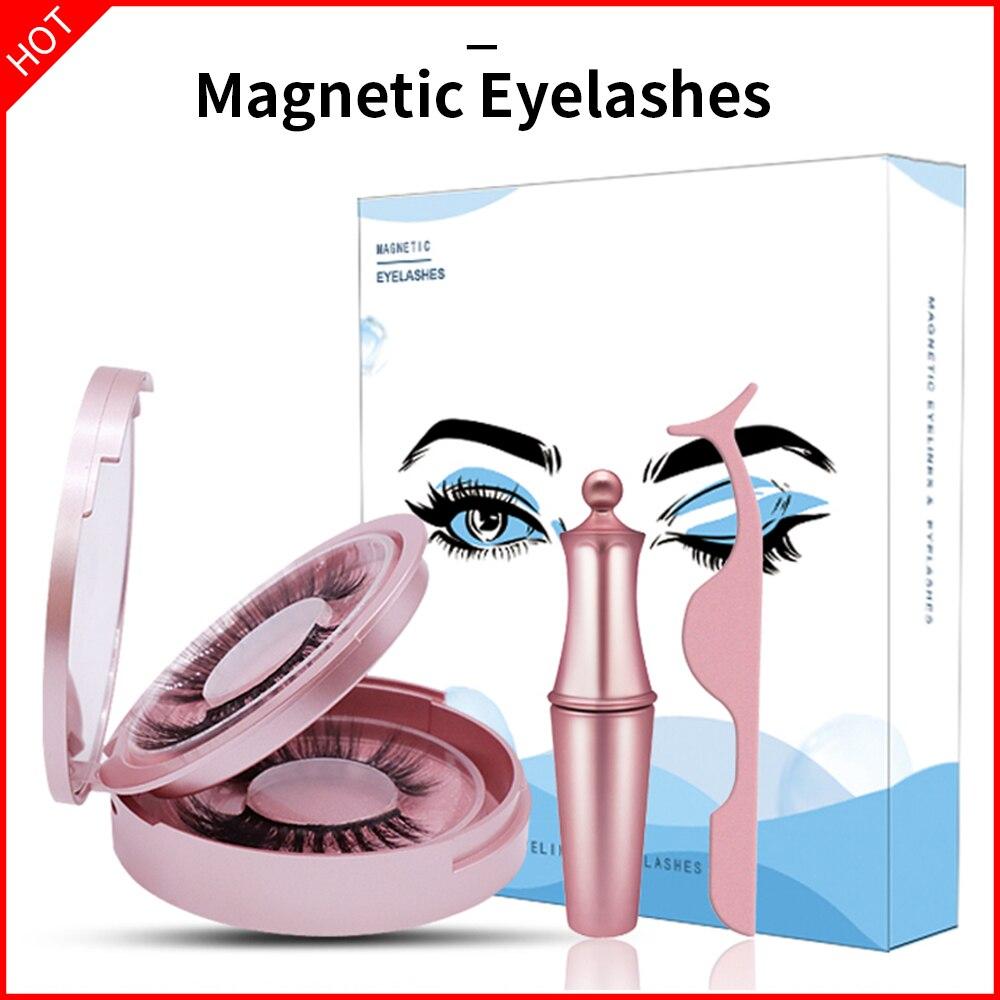 Pestañas magnéticas SexyGo, juego de delineador de ojos, Faux Cils Magnetique naturell Magnetische, herramientas Wimpers