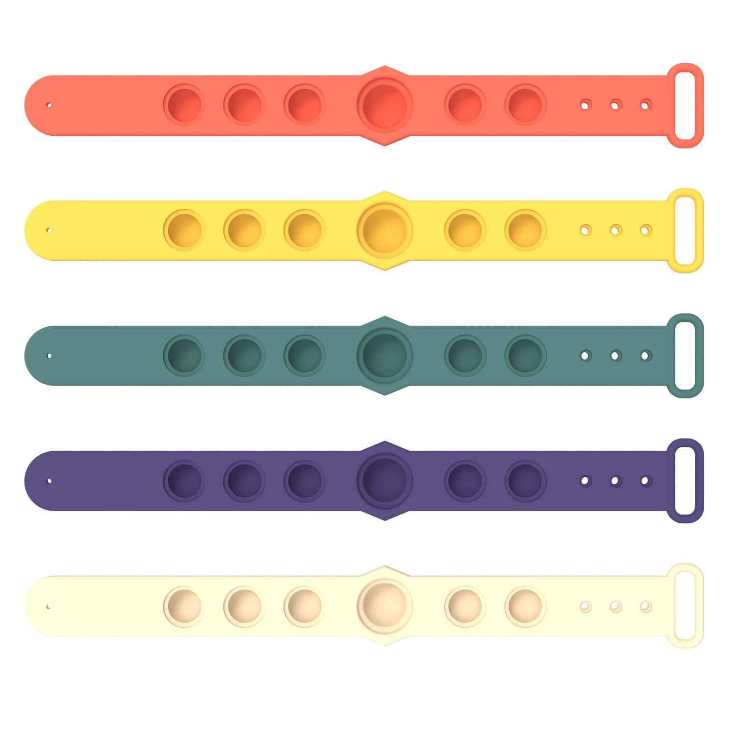 Fidget Rainbow Push pop Sensory toy Filp Silicone Press Finger Game Bubble Bracelet Stress reliever Gift for kids childs Funny enlarge