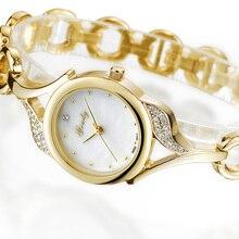 Women Small Gold Bracelet Luxury Watches Stainless Steel Ladies Quartz Wristwatches Fashion Casual F