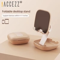 accezz 4 11 inches phone stand holder portable mobile holder lazy bracket for iphone 11 pro max x 8 xiaomi samsung phone holder