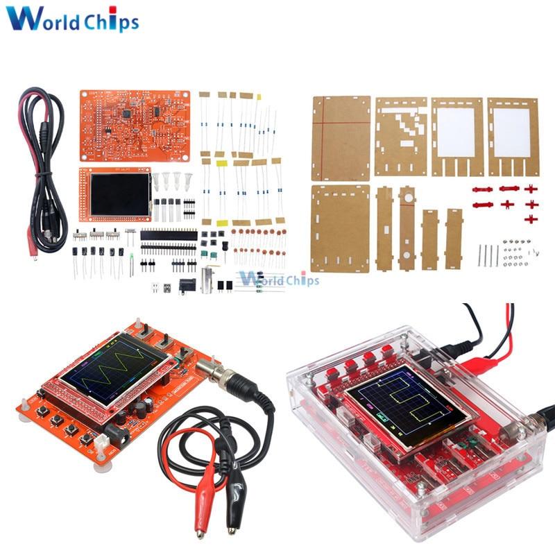 "Assembled 2.4"" Inch Digital Display Oscilloscope Kit Tester 12Bit 0 - 200KHz SMD Soldered + Acrylic DIY Case Cover Shell"