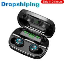 Dropshipping per S11 Nave di Goccia 3500mAh LED Senza Fili di Bluetooth Cuffie Auricolari Auricolari TWS Touch Control Sport Noise Cancel