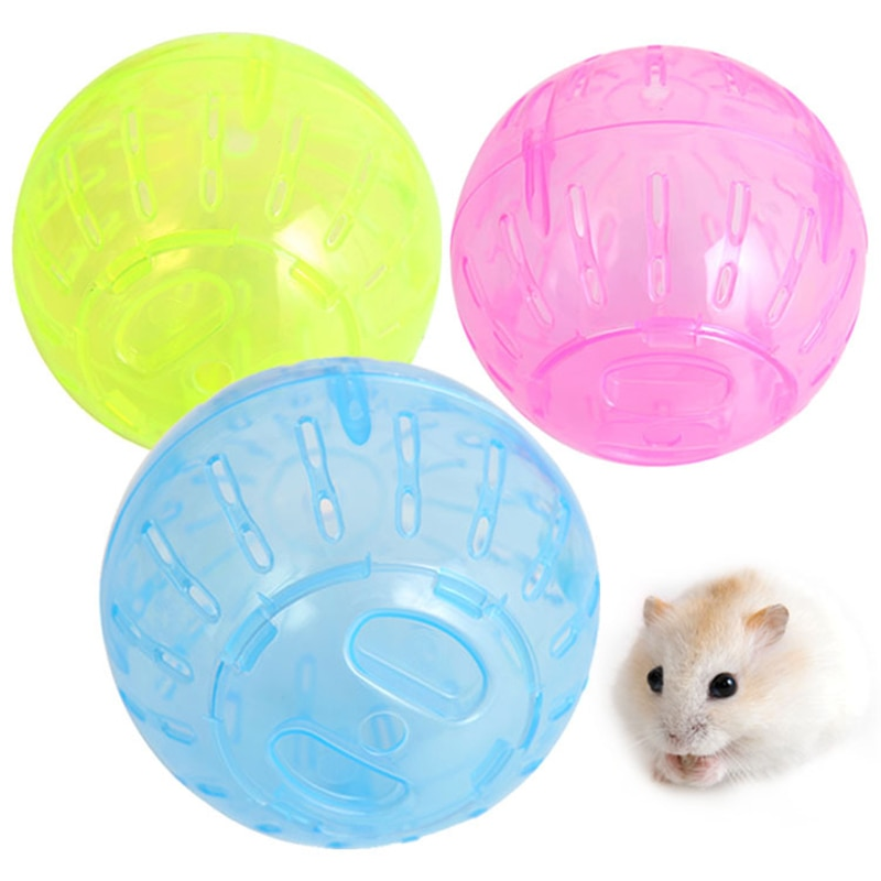 Пластмасови мишки за гризачи за домашни любимци, упражнения за хамстер, джербил и плъх, преносими забавни топки за бягане от твърд хамстер, аксесоар за играчки