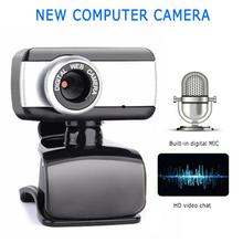 2020 New USB Web Camera 360 Degree USB HD Webcam Web Cam Clip-on Digital Camcorder With Microphone F