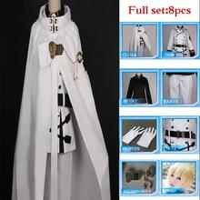 Anime Seraph De La Fin Owari pas Séraphin Mikaela Hyakuya Cosplay Costume Ensemble Complet Uniforme Manteau Boule Costume De Fête Perruque