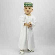Children Arabic Islamic Clothing Jubba Baby Boy Muslim Dress Saudi Arabia Thobe Robes Kids Musulman Islam Outfit Galabia Costume
