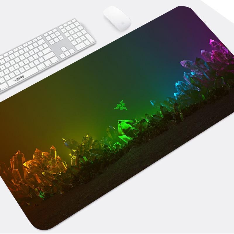 Игровой коврик для мыши Razer с логотипом, большой коврик для мыши, игровой Настольный коврик, XXL коврик для клавиатуры, коврик для компьютерно...