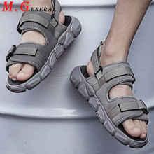 Plage hommes sandale hommes respirant antidérapant chaussures dété doux bas pantoufles pour hommes à la mode sandale décontractée homme plate-forme chaussure C19
