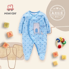Baby romper men and women baby clothes baby one piece clothes newborn open file clothes wrap feet sp