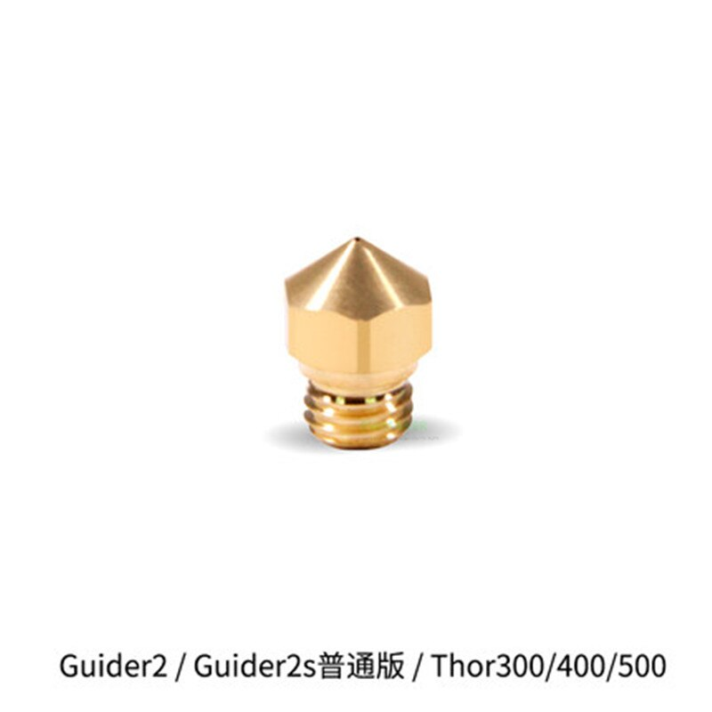 1 шт. латунная насадка 0,2 мм 0,3 мм 0,4 мм 0,5 мм 0,6 мм 0,8 мм Flashforge Guider II 2 S/Thor300/400/500 3D принтер Запасные части