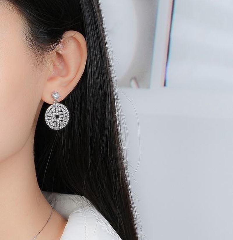S925 nuevos exagerados de plata de Metal gran círculo atmosférico disco de múltiples capas de moda Retro Boho pendientes huecos de las mujeres