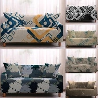 geometry print elastic sofa cover stretch couch slipcovers corner sofa covers for living room sectional couch cover 1 4 seaters