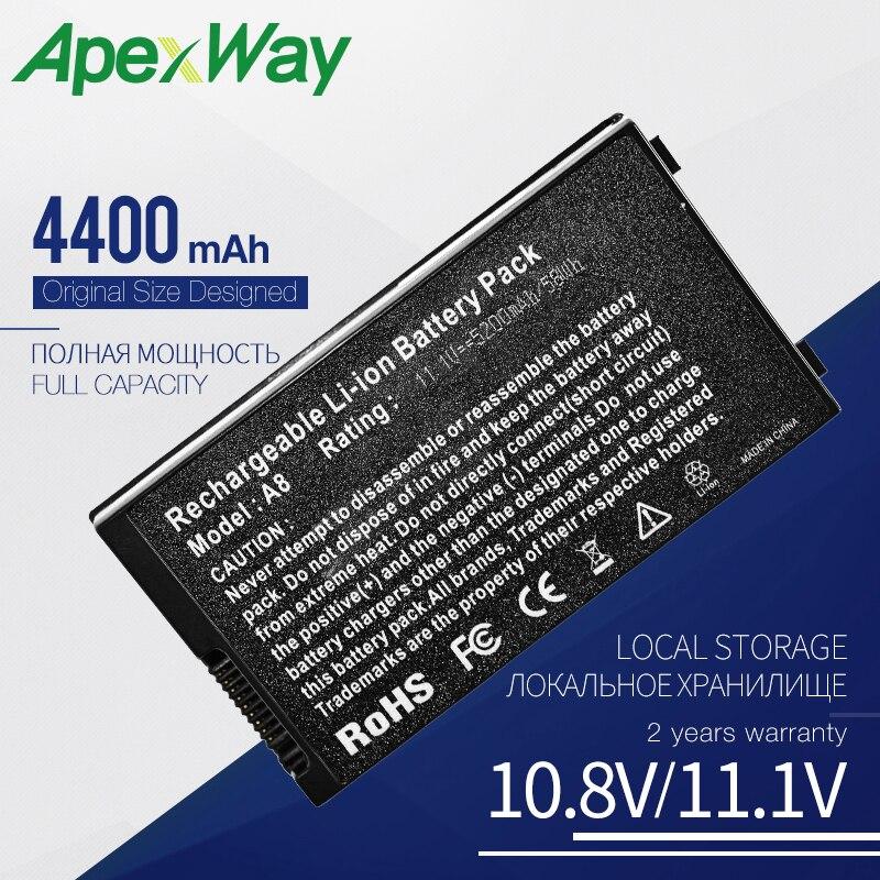 Bateria do portátil para asus A32-A8 Apexway A8Tm A8Z F8 F8Sa F8Se N80Vc N81 N81A N81Vp Pro61G Pro61GX Pro61SF X81Sg X83V X80Z X81L