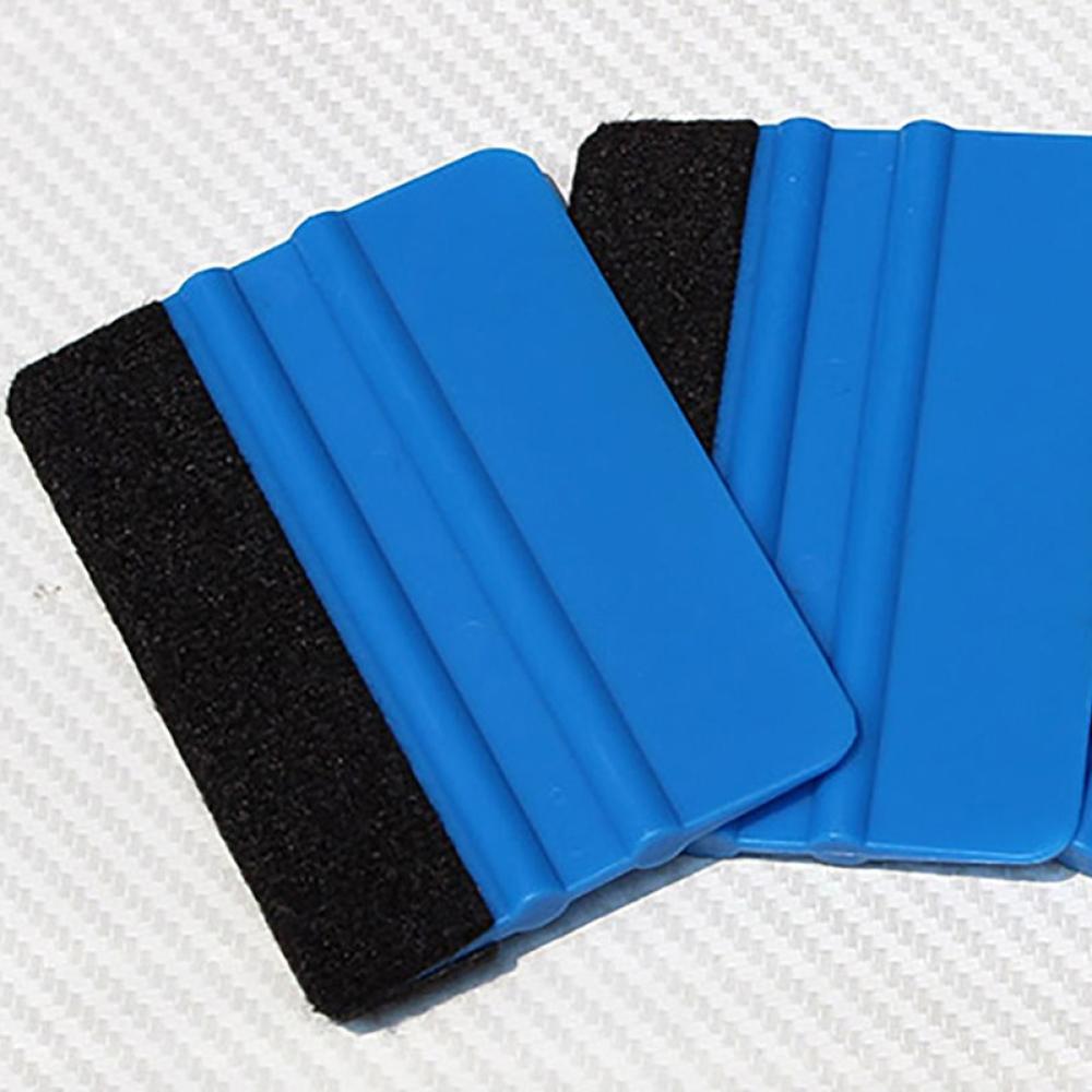 Blue Felt Squeegee Vinyl Film Tool  Scraper Car Tinting Window Glass Wash Auto Accessories
