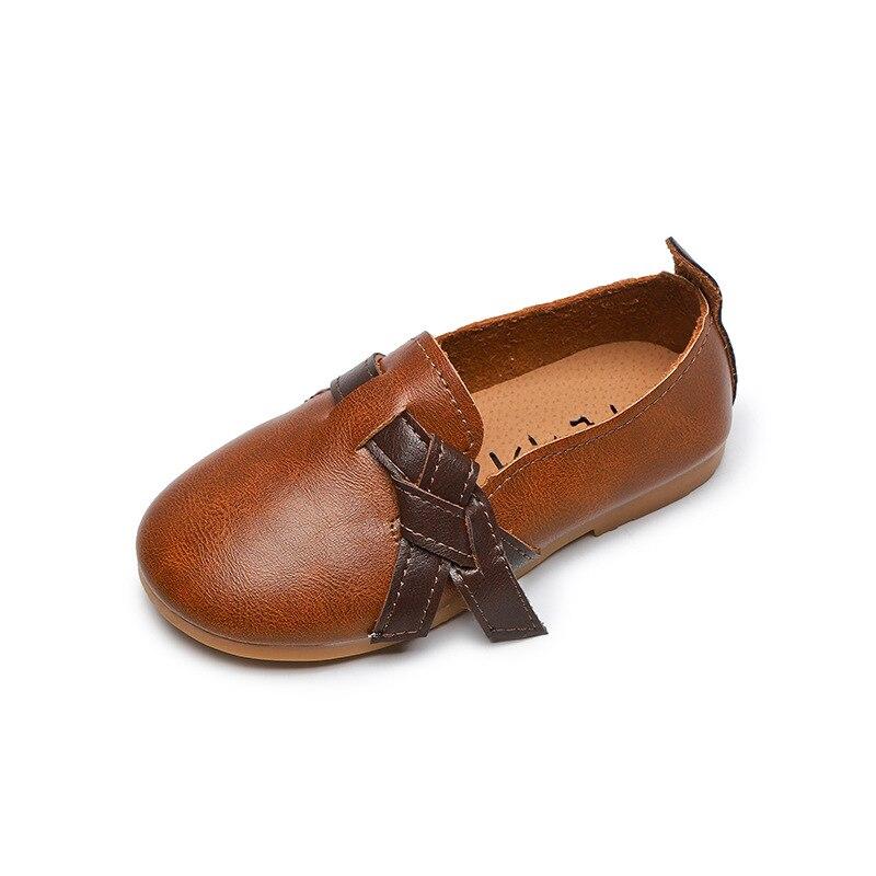 2020 nuevos zapatos para niñas, zapatos casuales de cuero para niños, para estudiantes, color caqui, solo 3 4 5 6 7 8 9 10 11 12 13 14T