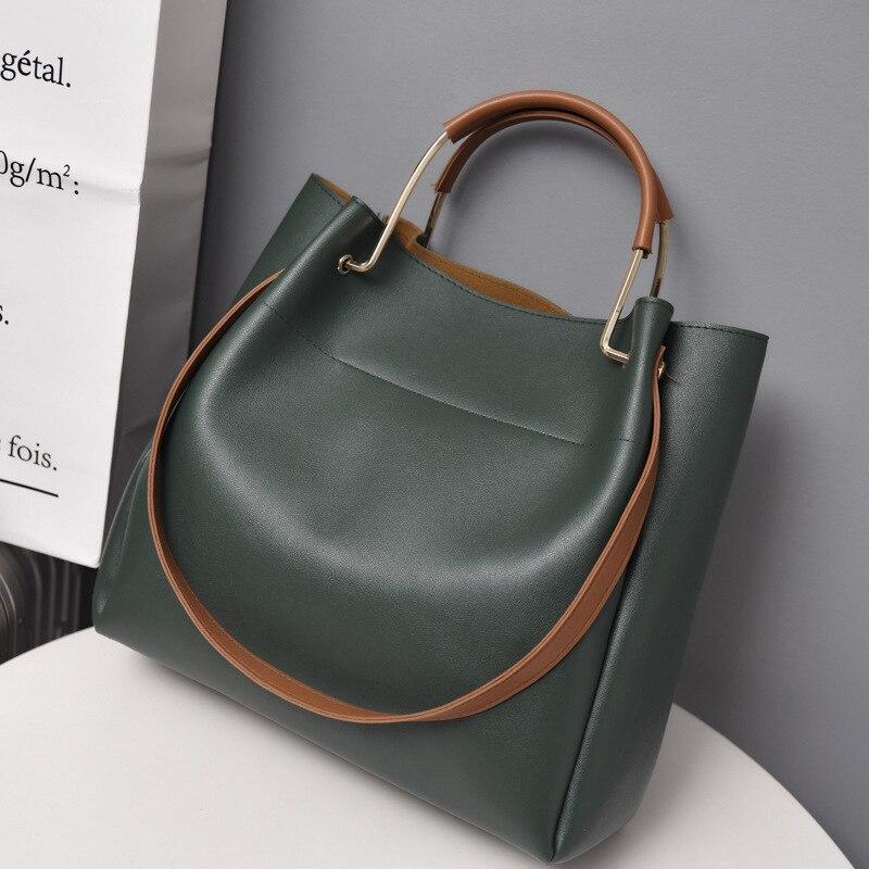 Bolsas de couro de luxo senhora sacos de mão bolsa mensageiro feminina grande tote