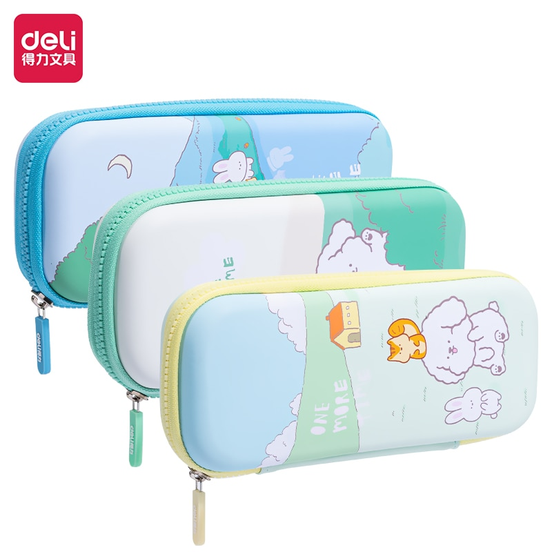 Deli stationery box multi function pencil case high school students middle school student pencil case large capacity pencil case