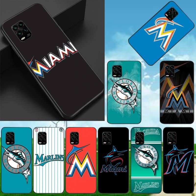 0 los Miami Marlins negro TPU funda de teléfono para Xiaomi 8...