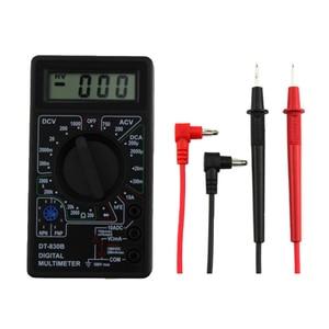DT-830B Multifunction LCD Digital Multimeter LCD Digital Voltmeter Ammeter Capacitance Ohm Multimeter with Leads Tester Tool