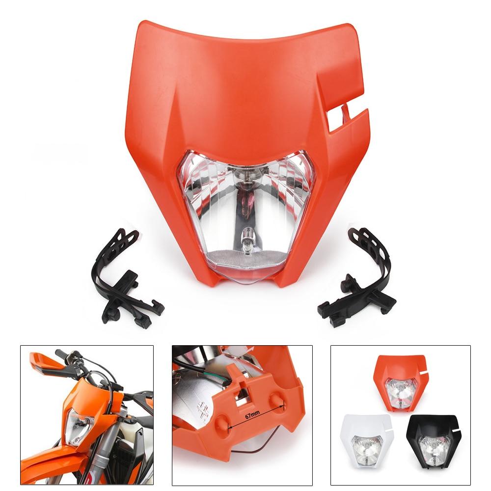 Faros universales para motocicleta, lámpara de faro para KTM EXC XC XCF XCW XCFW SX SXF SXS 125 150 250 350 450 530 moto de cross