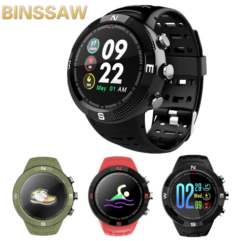 Reloj Bluetooth GPS F18 reloj inteligente pantalla de color HD Monitor de ritmo cardíaco IP68 soporte impermeable Bluetooth 4,2 Android e IOS