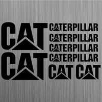 for caterpillar cat aufkleber frase sticker bagger excavator 8 stickers pieces car styling quote decals mural