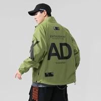 korean fashion casual jacket mens bomber hip hop jacket