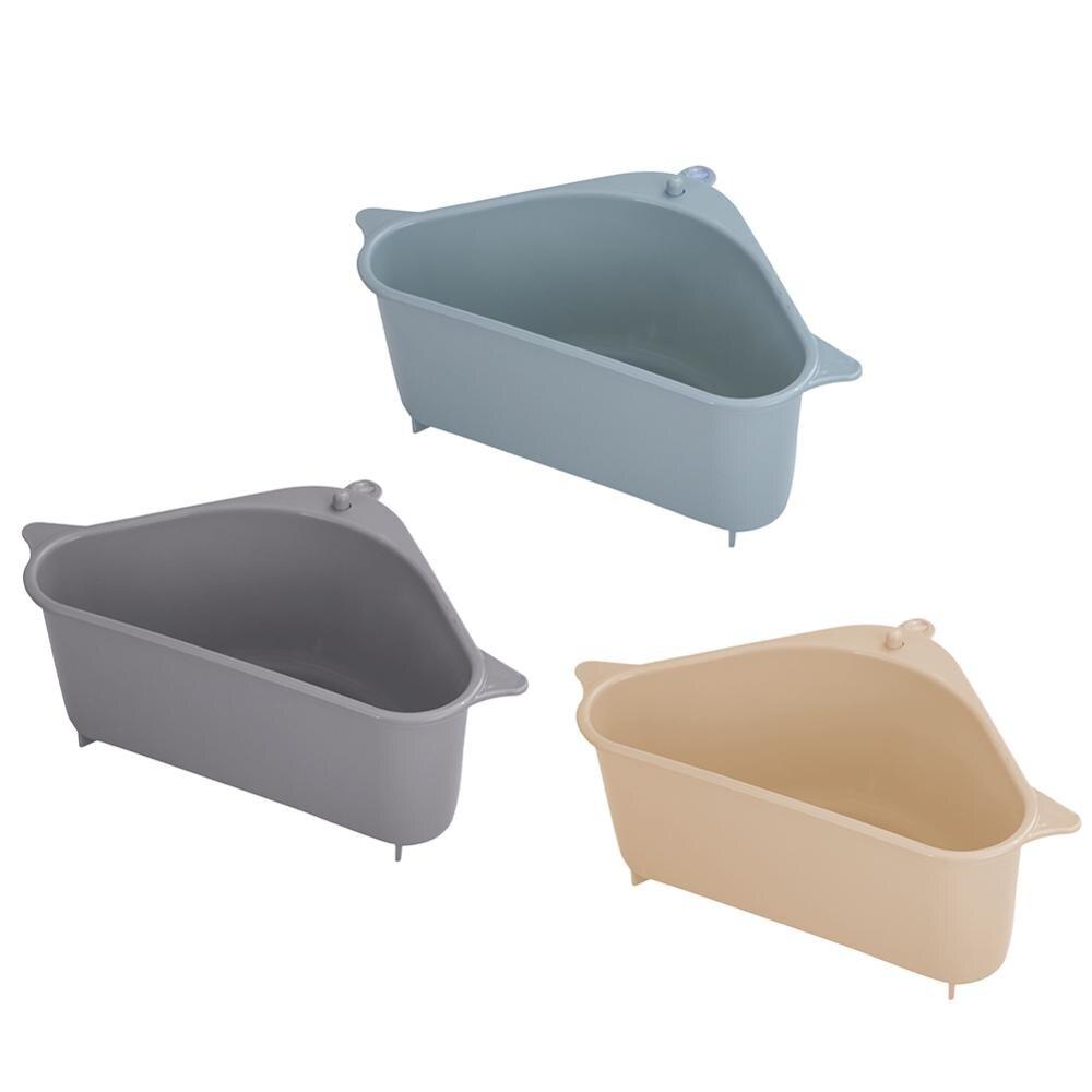 2020 NEW PP Triangle Kitchen Sink Shelf Drain Rack  Hanging Storage Holder Basket Kitchen Tools  Water Filter Basket