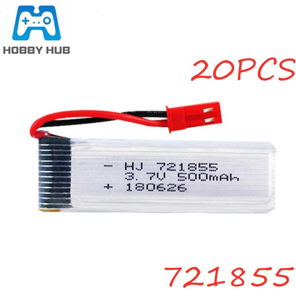 3,7 V 500mAh Lipo batería para WLtoys V929 V949 V959 V977 V212 V22 Udi U815A U818A U819A H07 H37 Drone RC de la batería de 3,7 V 721855