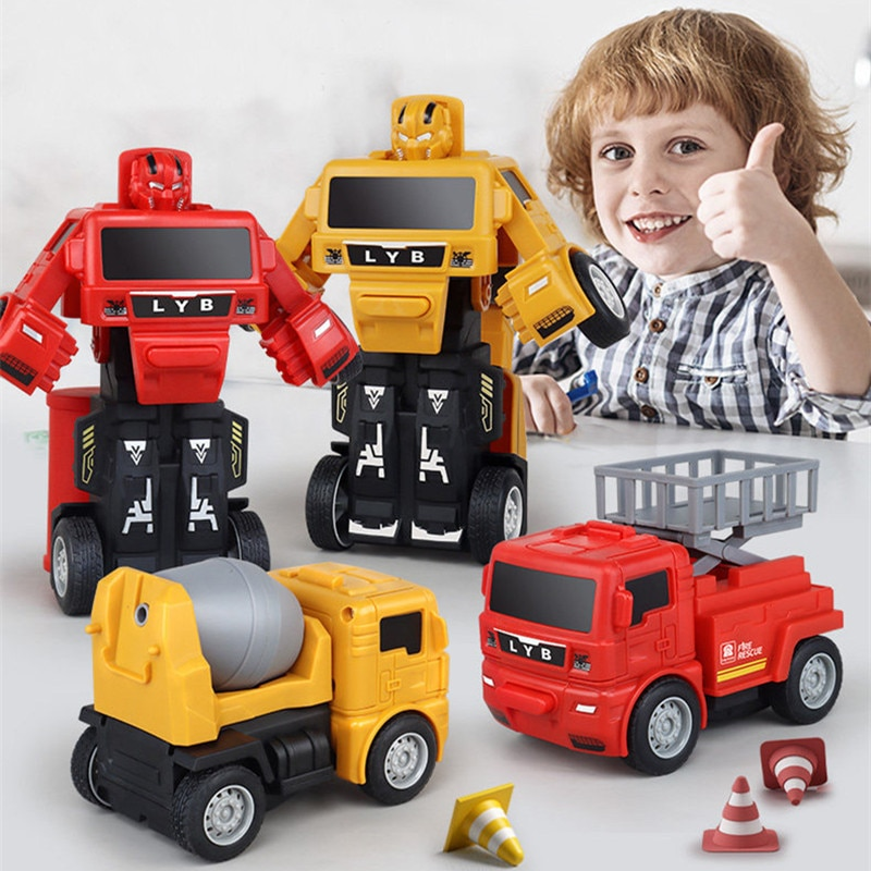 Машинки для мальчиков, робот, игрушки для детей от 2 до 4 лет, грузовик, трансформированные фигурки, игрушки, игрушки для детей