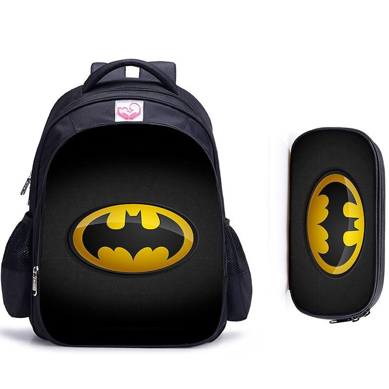 16 Inch Super Hero Batman Children School Bags Orthopedic Backpack Superhero Kids School Boys Girls Mochila Infantil Catoon Bags