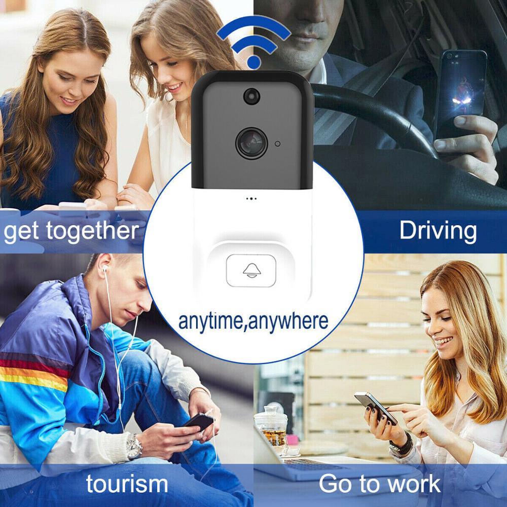Wireless Smart WiFi DoorBell Camera Phone Video Door Visual Ring Door Bell Intercom with PIR Night Vision Home Security Camera enlarge