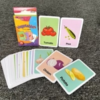 36pcs kids cognition card shape animal color teaching baby english learning word card education toys montessori material gift