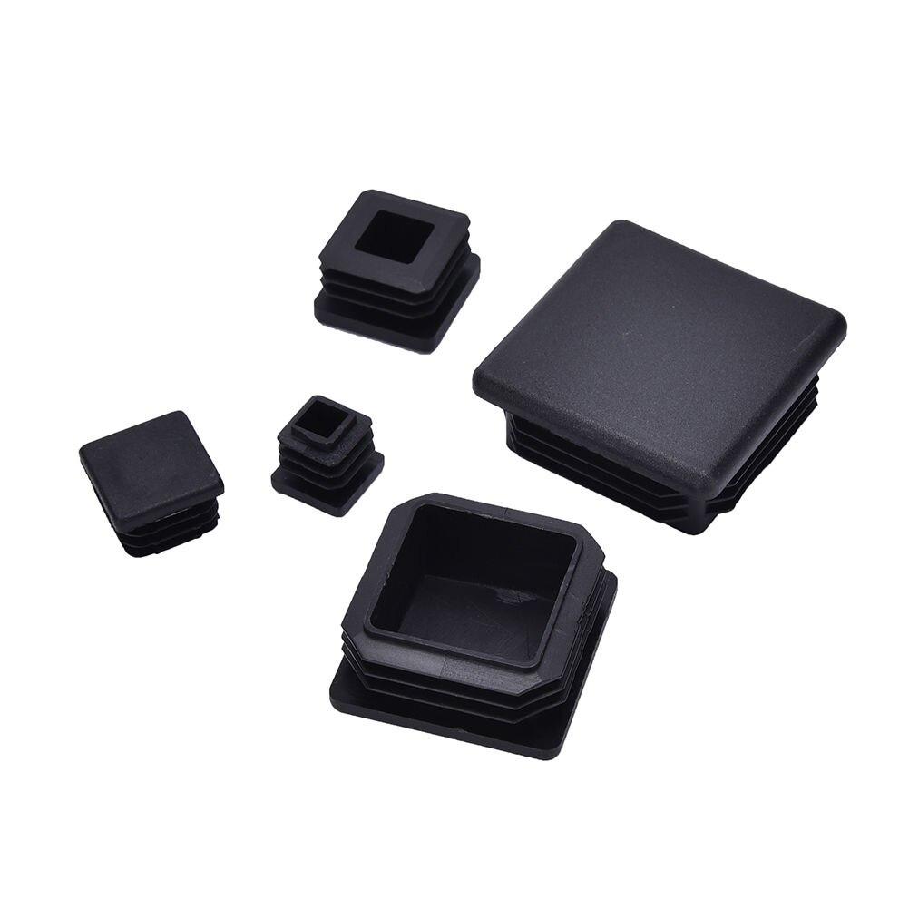 10 шт., черные пластиковые заглушки, Квадратные Вставки для трубчатой коробки, аксессуары для мебели, оптовая продажа, горячая Распродажа