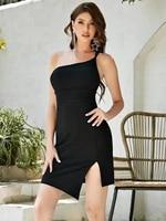 asymmetrical hem and shoulder women s wholesale cocktail dress