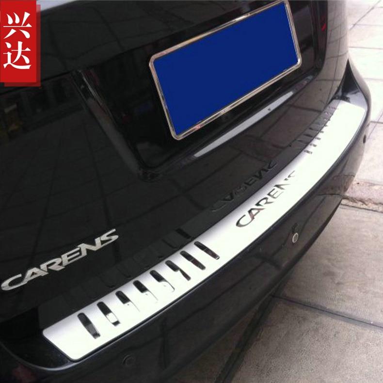 Voor Kia Carens 2007 -2019 Auto-Styling Rvs Auto Externe Achterbumper Protector Sill Trunk Tread Plate trim
