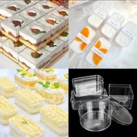 baking cake box mousse bean milk west point cake packing box sweet goods transparent plastic disposable packing box
