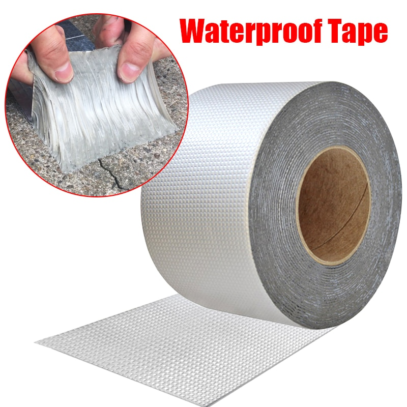 Aluminum Foil Butyl Rubber Tape Self Adhesive High temperature resistance Waterproof for Roof Pipe R