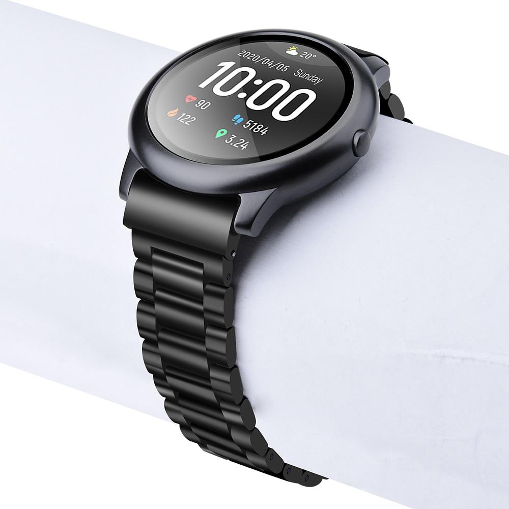 Correa de reloj Solar de Metal y acero inoxidable para Xiaomi Haylou Solar ls05, accesorios solares ls05