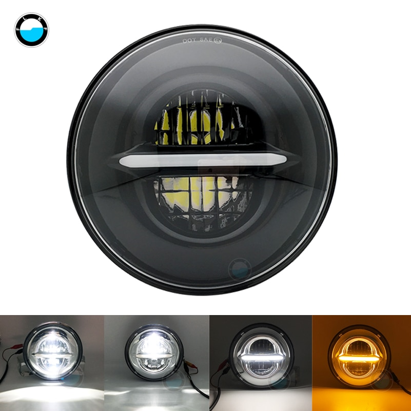7 inch 50W LED Motorbike headlight For Honda  Road King Headlight  7 inch LED H4 White DRL.
