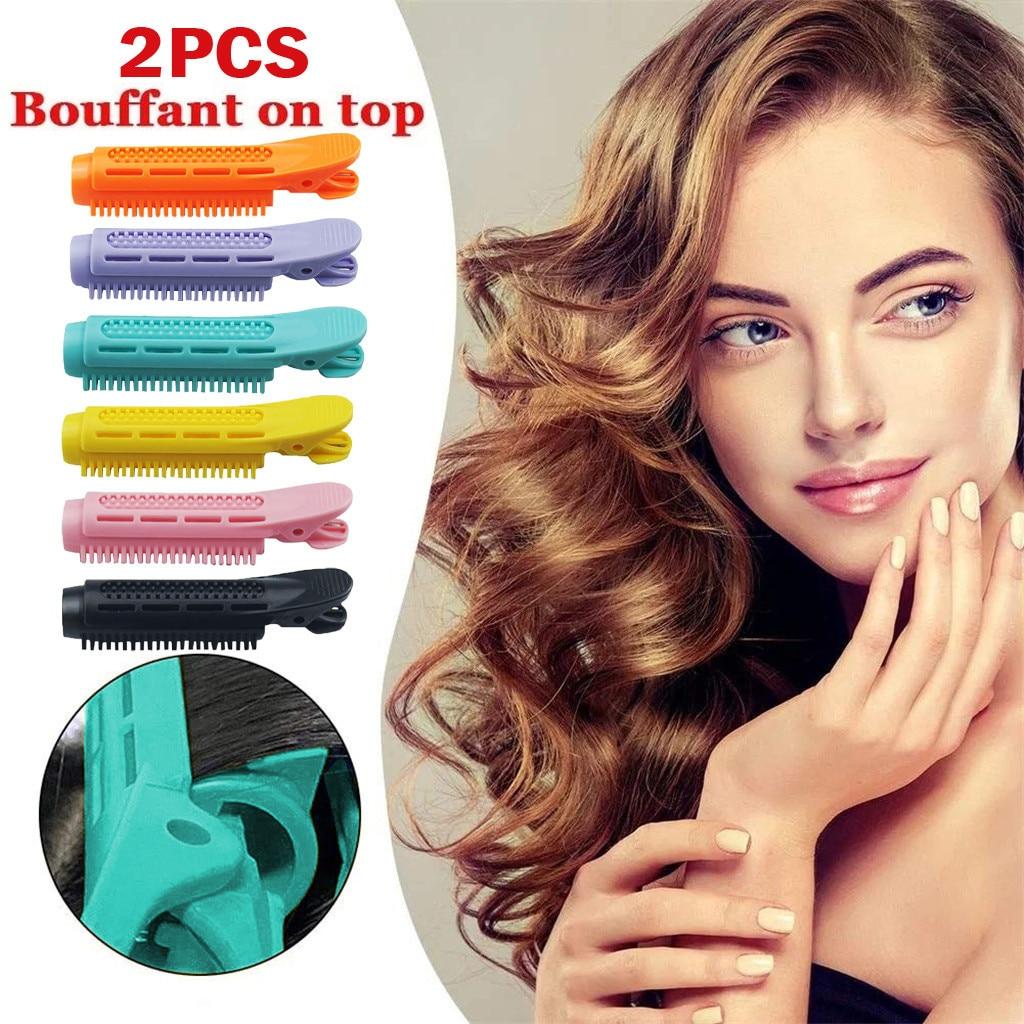 2 uds Clip de pelo esponjoso de belleza para mujeres, Clip de rizador de pelo para mujeres, Clip de rizador de pelo de volumen, estilo de cabello rizado natural